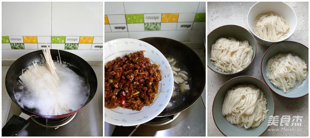 香菇杂酱汤面的做法图解
