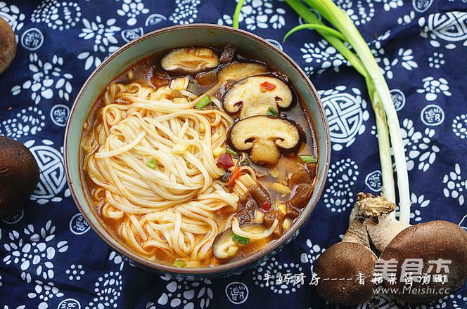 香菇杂酱汤面的家常做法