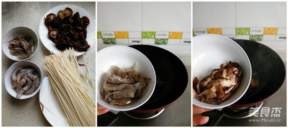 虾仁菌菇汤面的做法大全