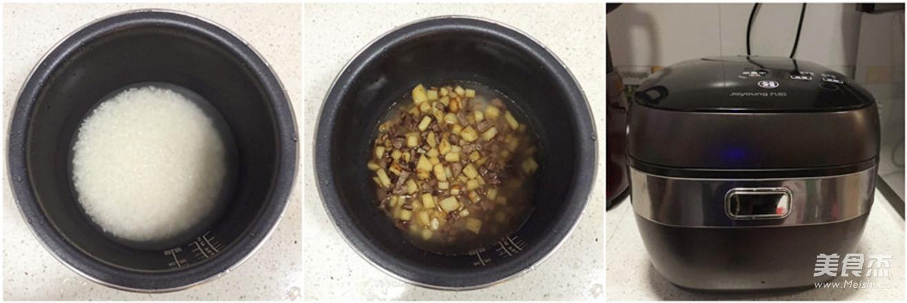 牛肉土豆焖饭的做法图解