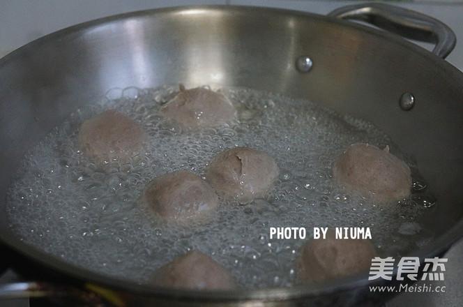 牛肉丸青菜汤的简单做法