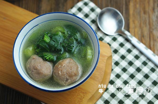 牛肉丸青菜汤怎么煮