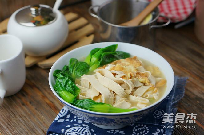 鸡蛋豆皮青菜汤怎么煮
