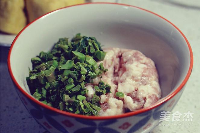 香椿肉酿豆泡的家常做法