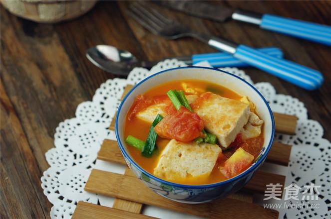 番茄鸡蛋焖豆腐怎么煮