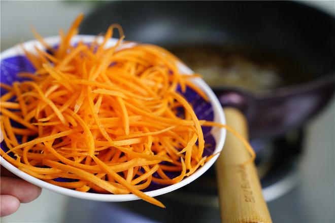 芽菜胡萝卜肉丝汤面怎么吃