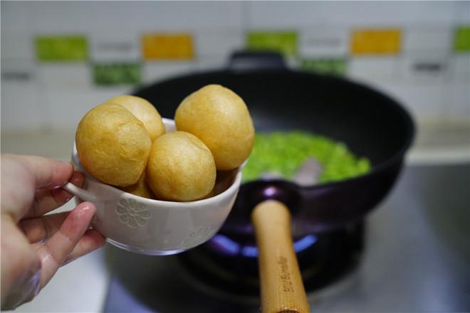 肉丸豆仁煮面筋怎么吃