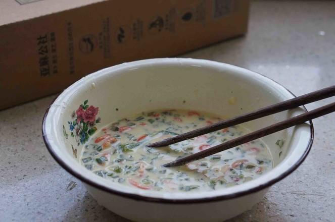 河虾芹菜蛋饼的做法图解