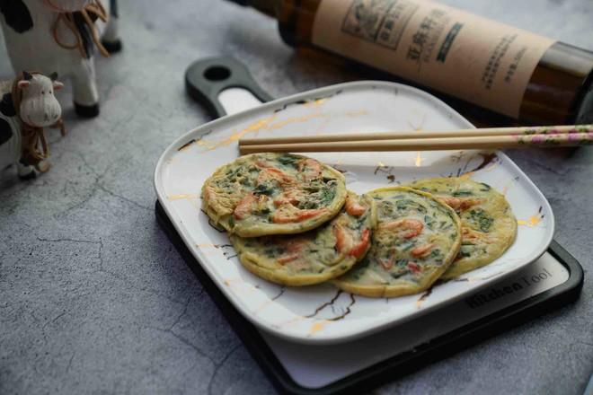 河虾芹菜蛋饼怎么吃
