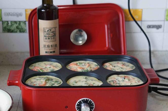 河虾芹菜蛋饼的简单做法