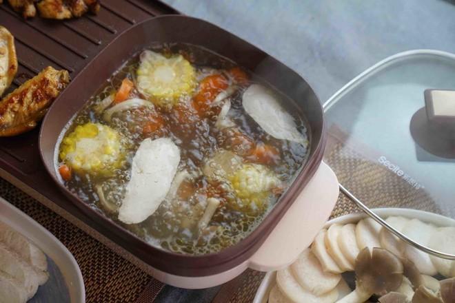 油鸡鲜蔬火锅怎么炒