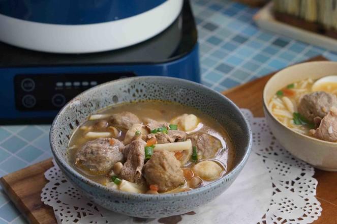 茄汁菌菇牛肉丸子汤怎么炒