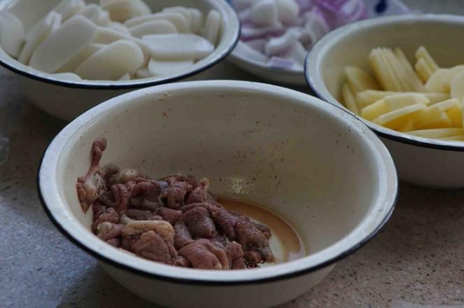 牛肉土豆汤年糕的做法图解