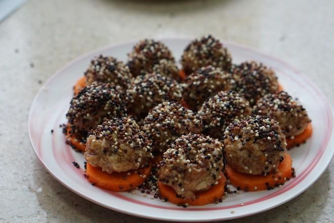 三色藜麦藕丸子怎么吃