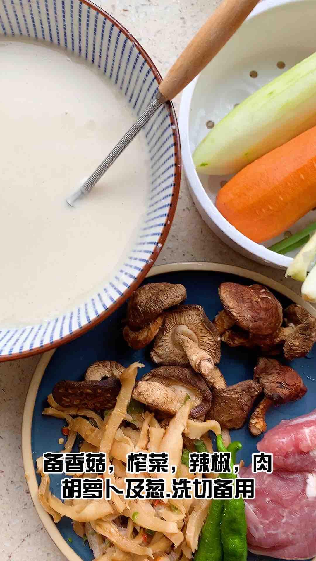 肉丝香菇薄饼的家常做法