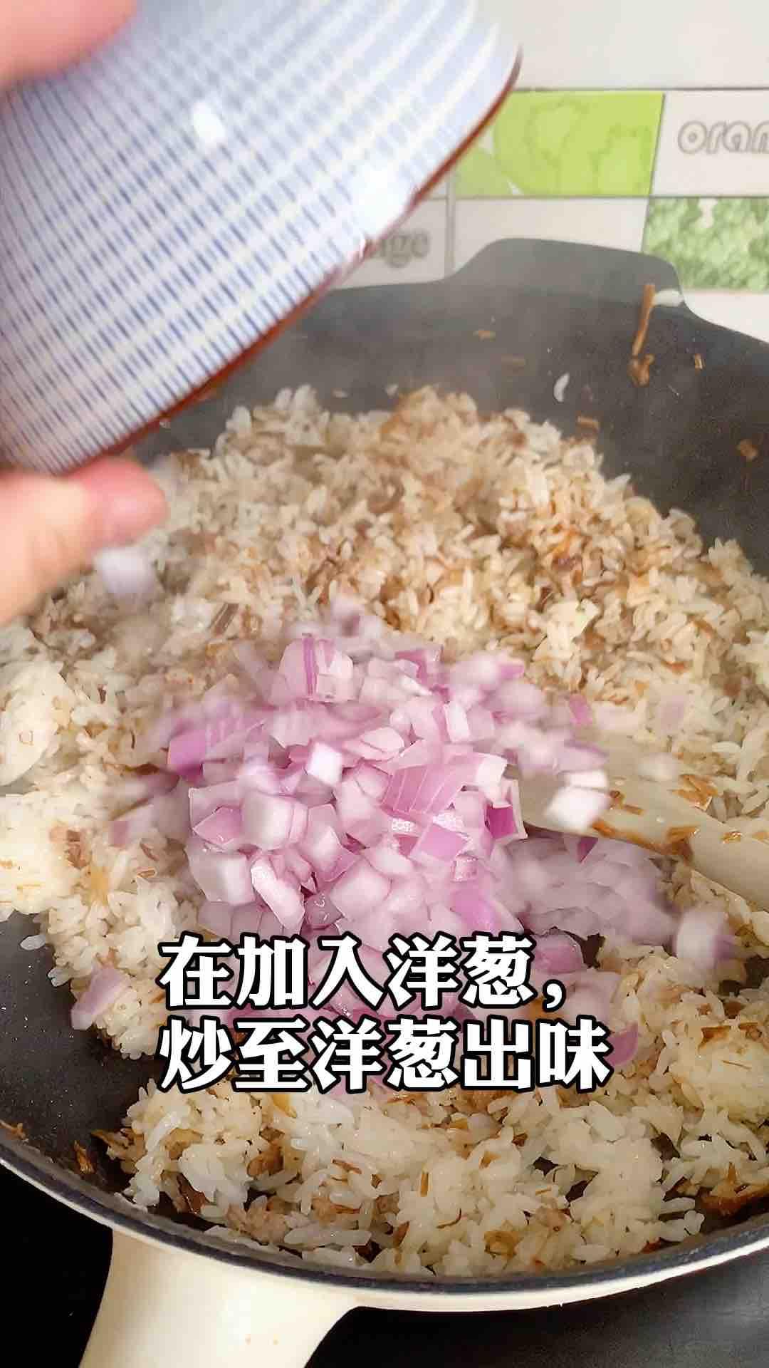 洋葱肉末炒饭怎么做