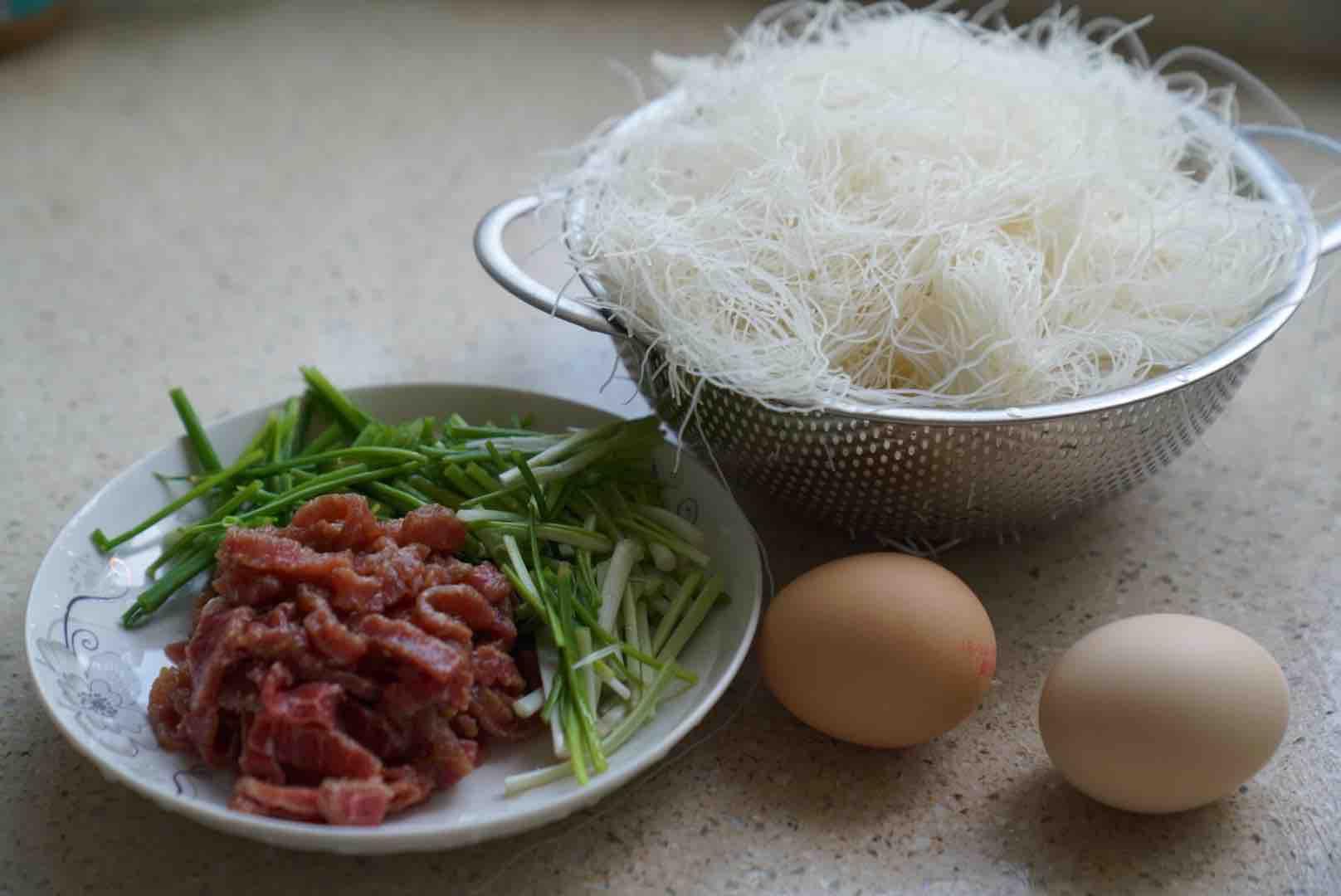 牛肉鸡蛋炒粉的做法大全