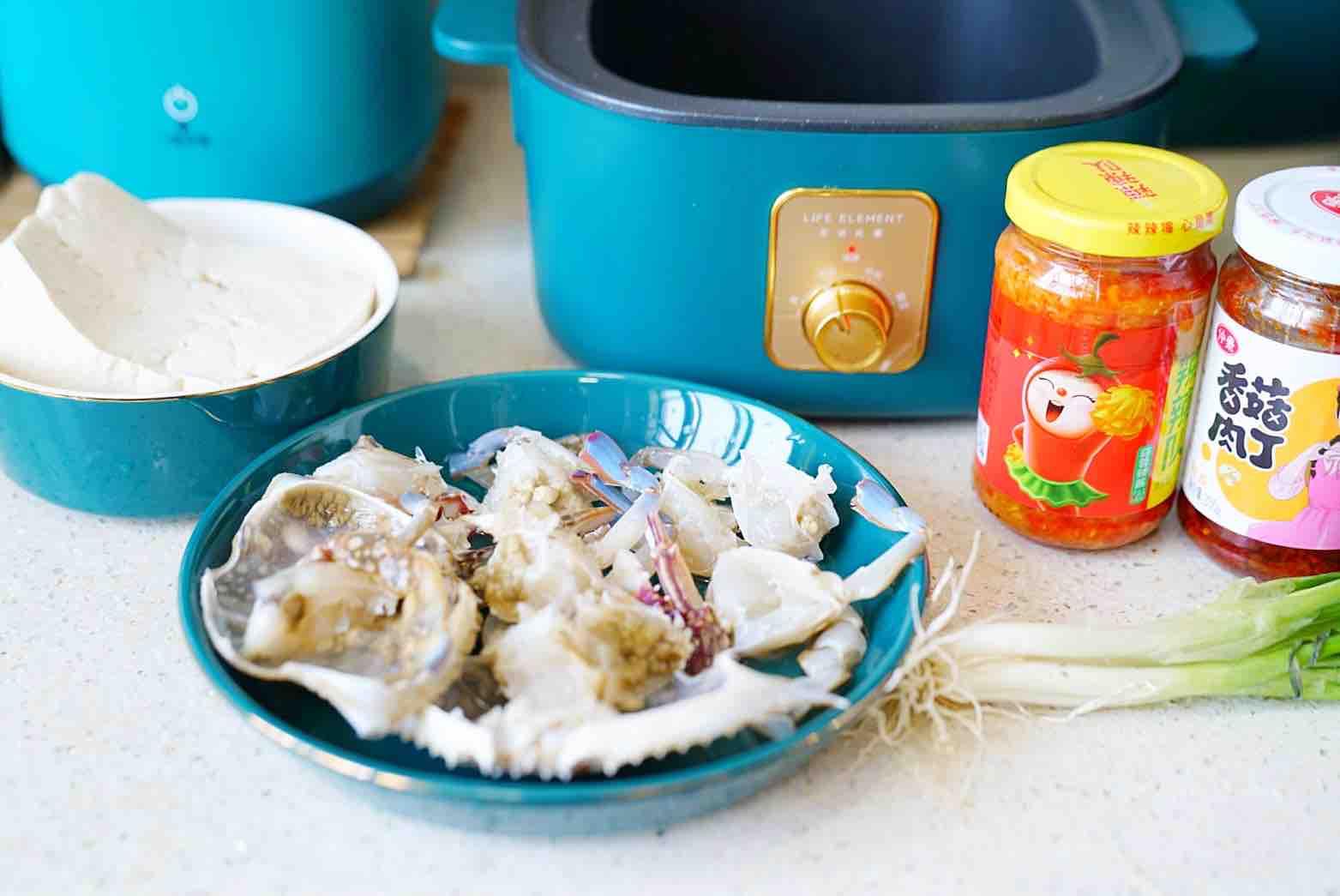 蟹焖豆腐的家常做法