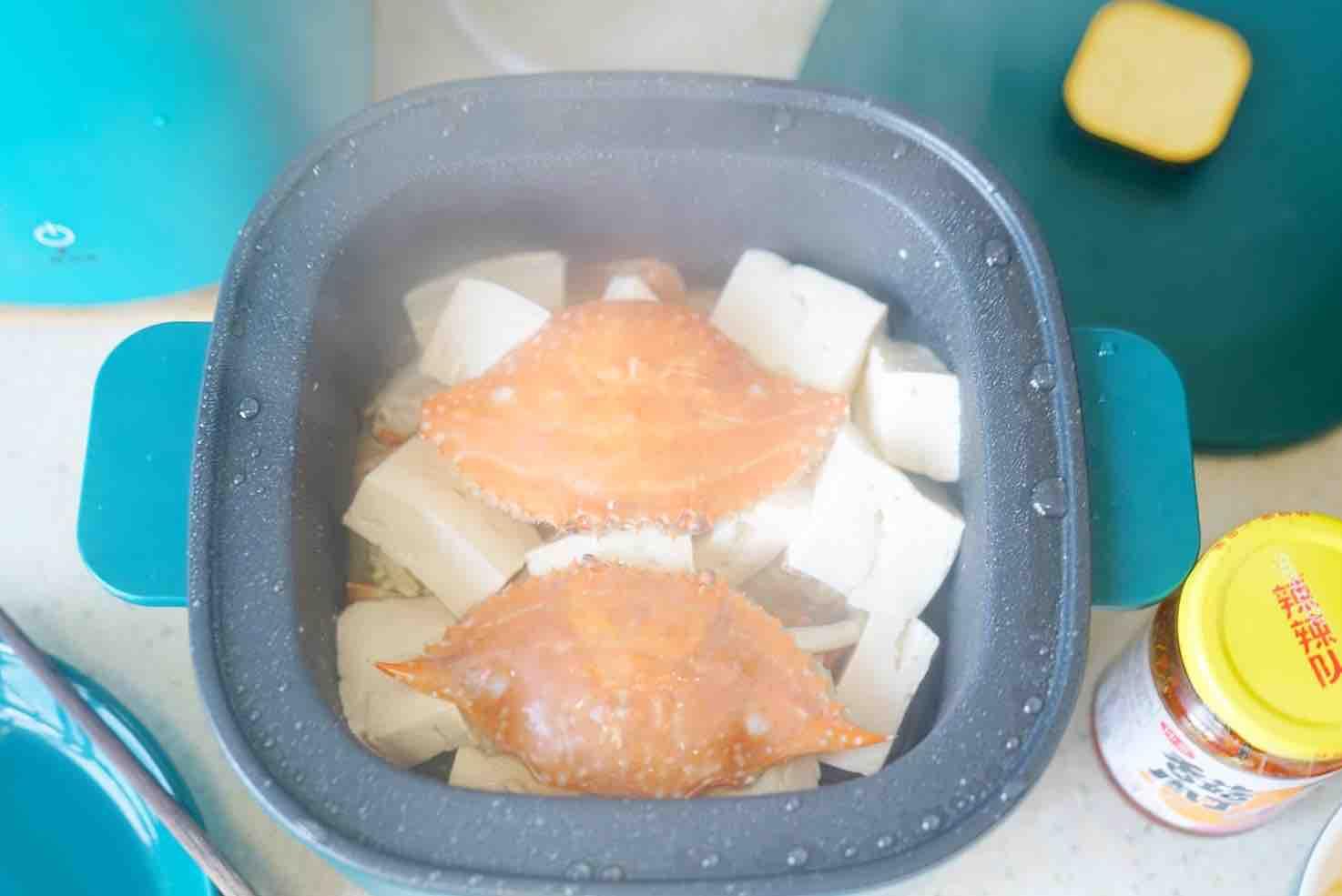 蟹焖豆腐怎么吃