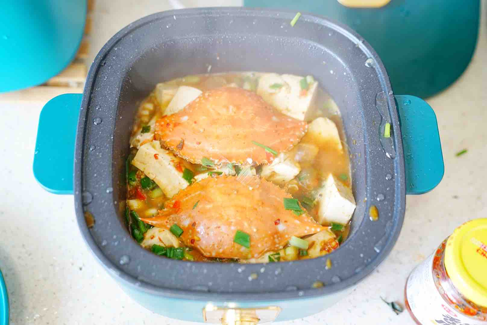 蟹焖豆腐怎么炒