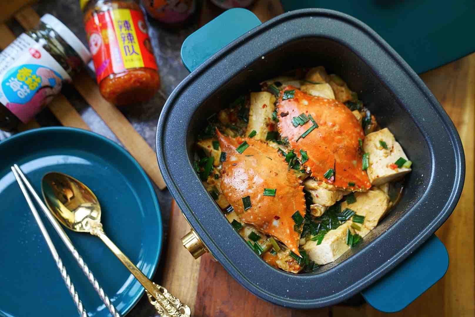 蟹焖豆腐怎么煮