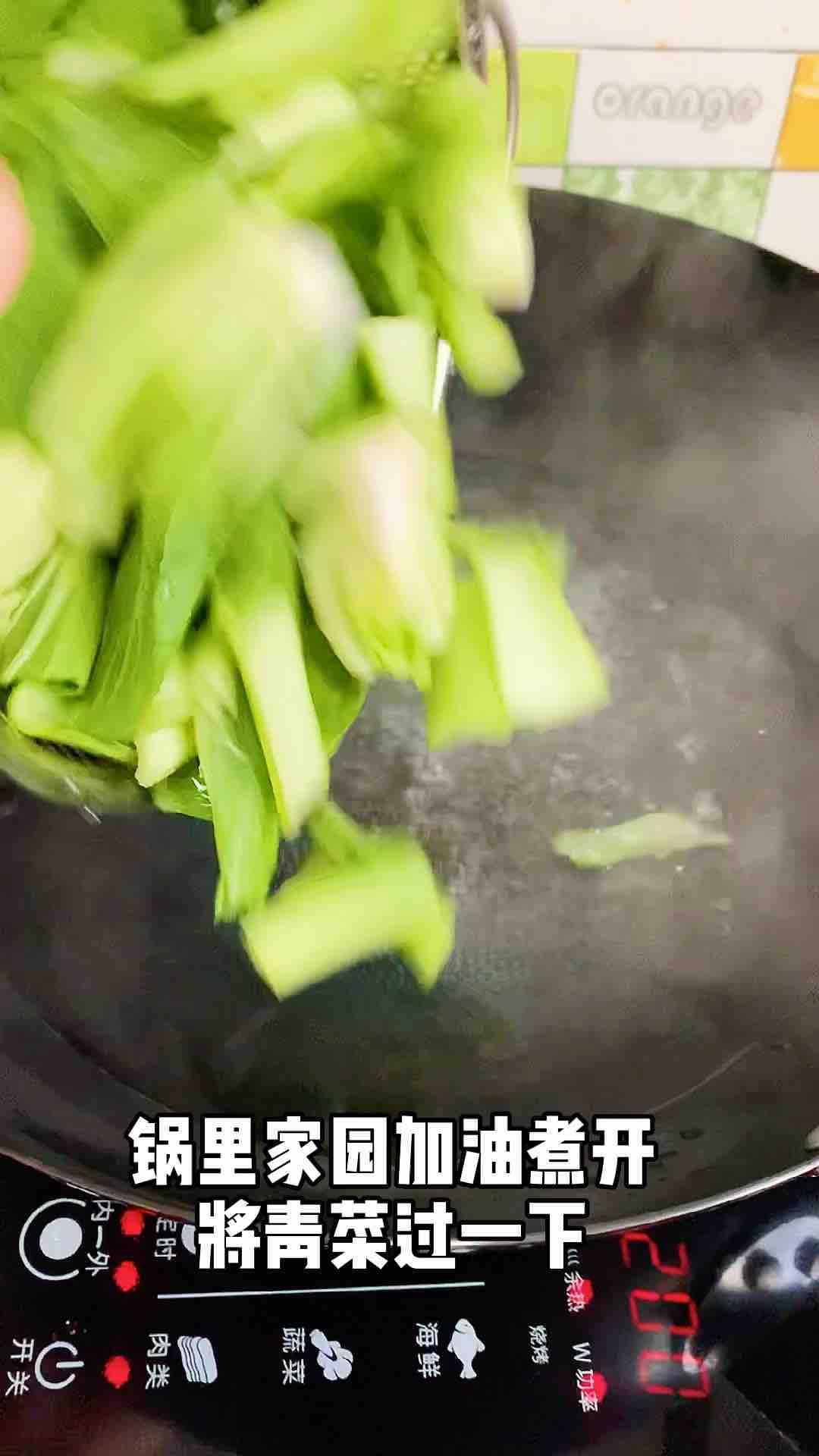 青菜炒豆皮的家常做法