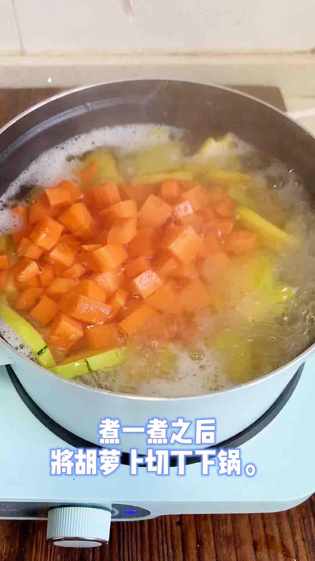 咖喱时蔬鱼饼意面的简单做法