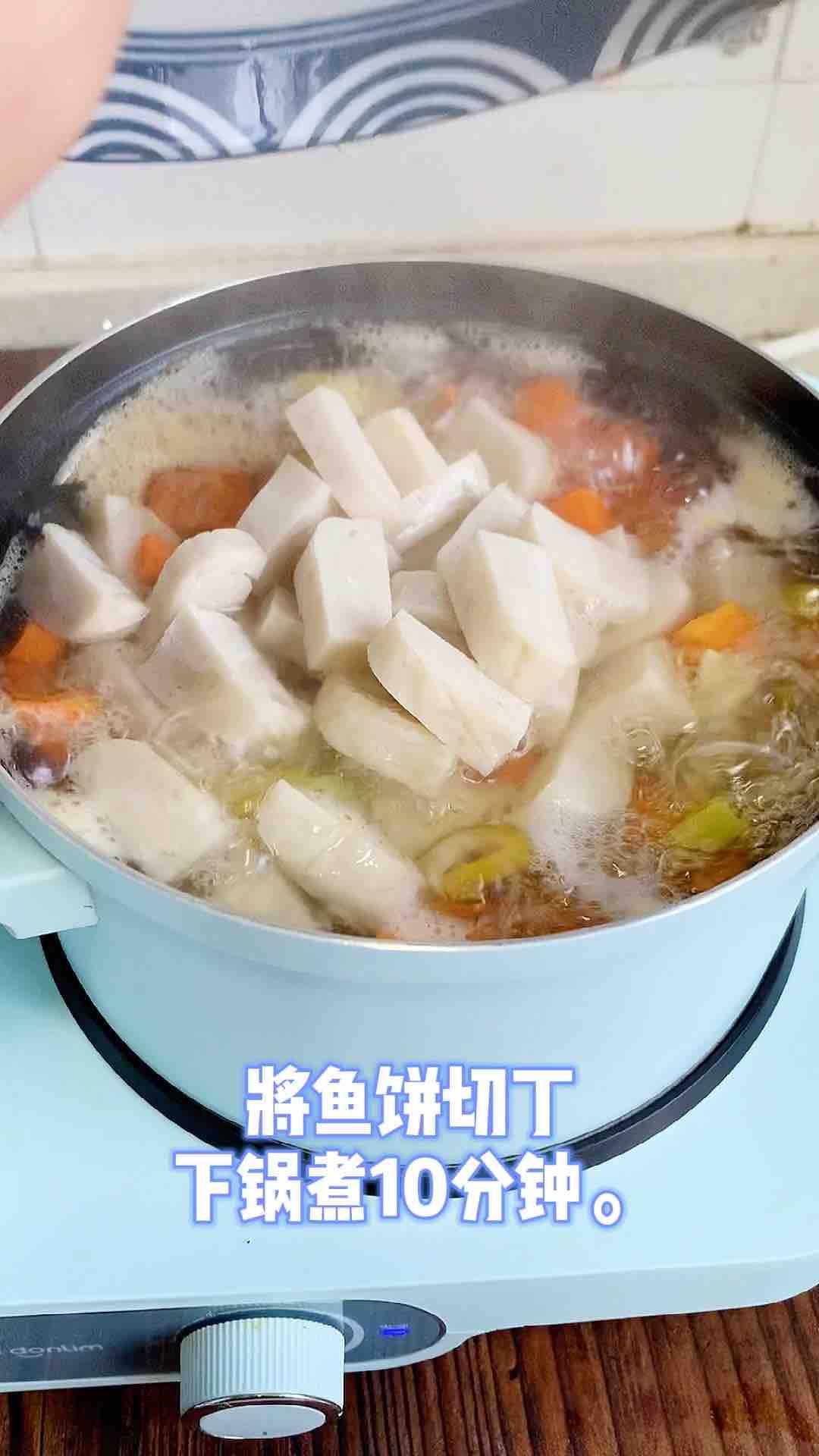 咖喱时蔬鱼饼意面怎么吃