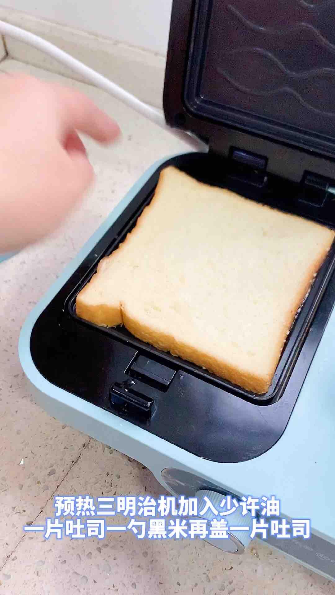 黑米三明治怎么吃
