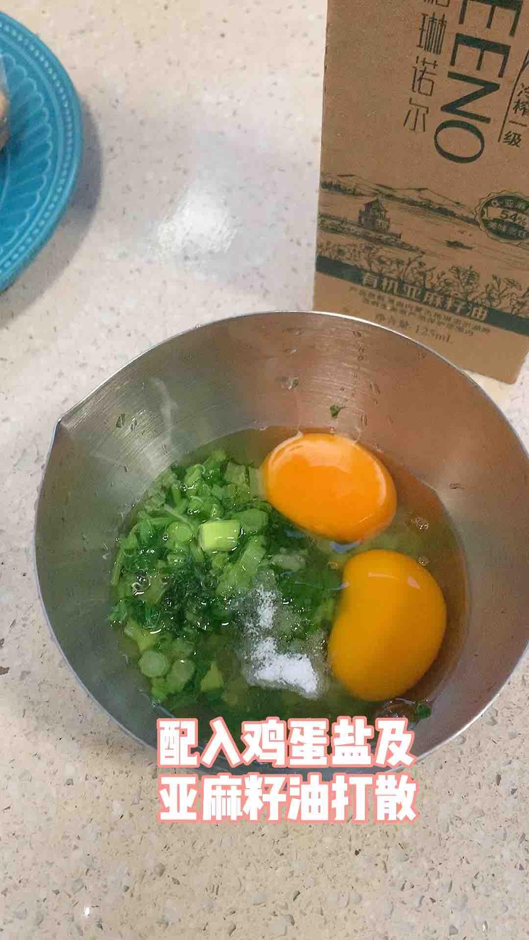 青菜鸡蛋三明治的步骤