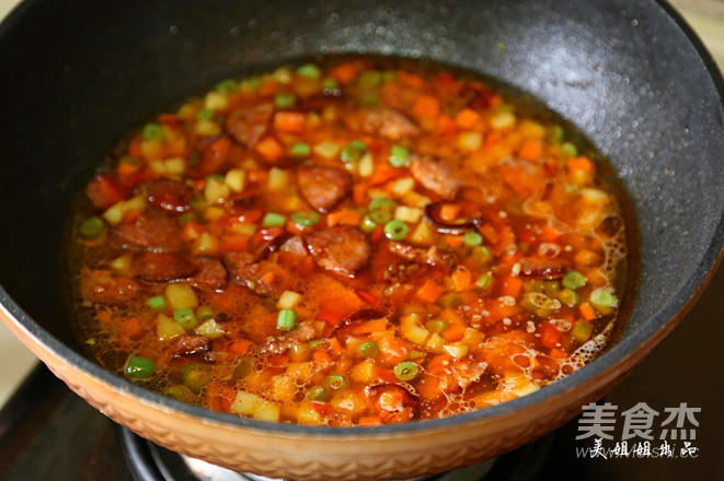 香肠土豆焖饭怎样煮