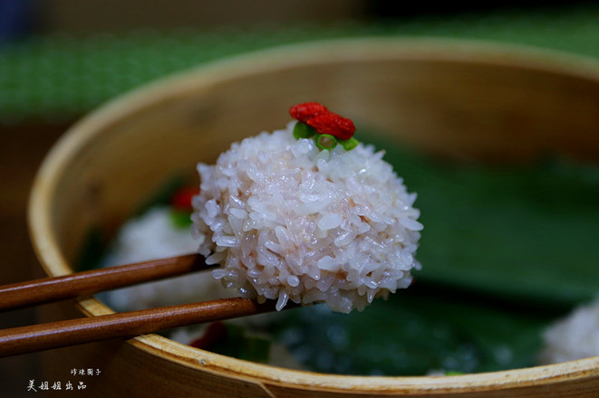 蒸糯米肉圆子的制作方法