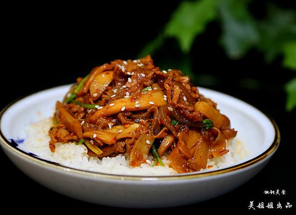 韩式杏鲍菇盖饭的制作
