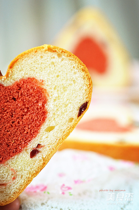 爱心蛋糕吐司的做法图解