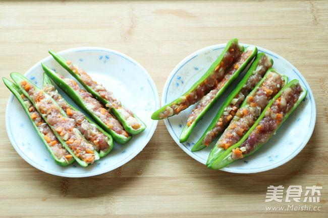 闻着就香的青椒酿肉的简单做法