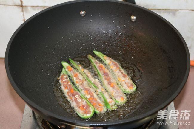 闻着就香的青椒酿肉怎么做