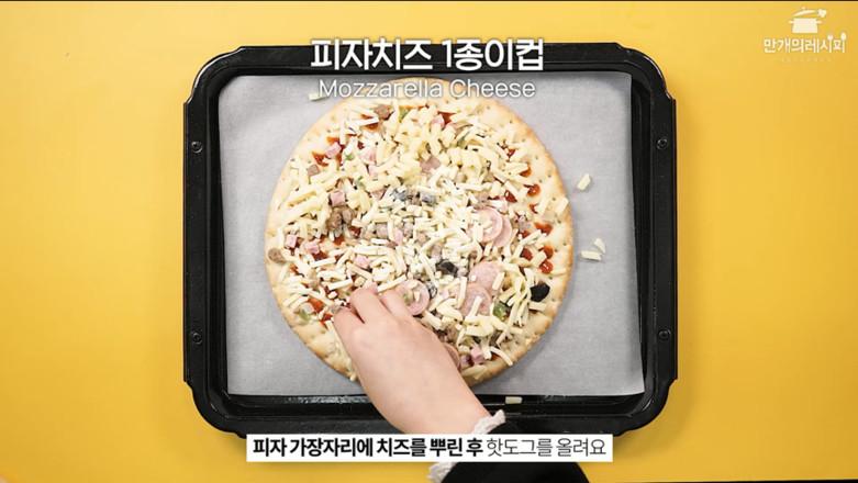 韩式热狗披萨的做法图解