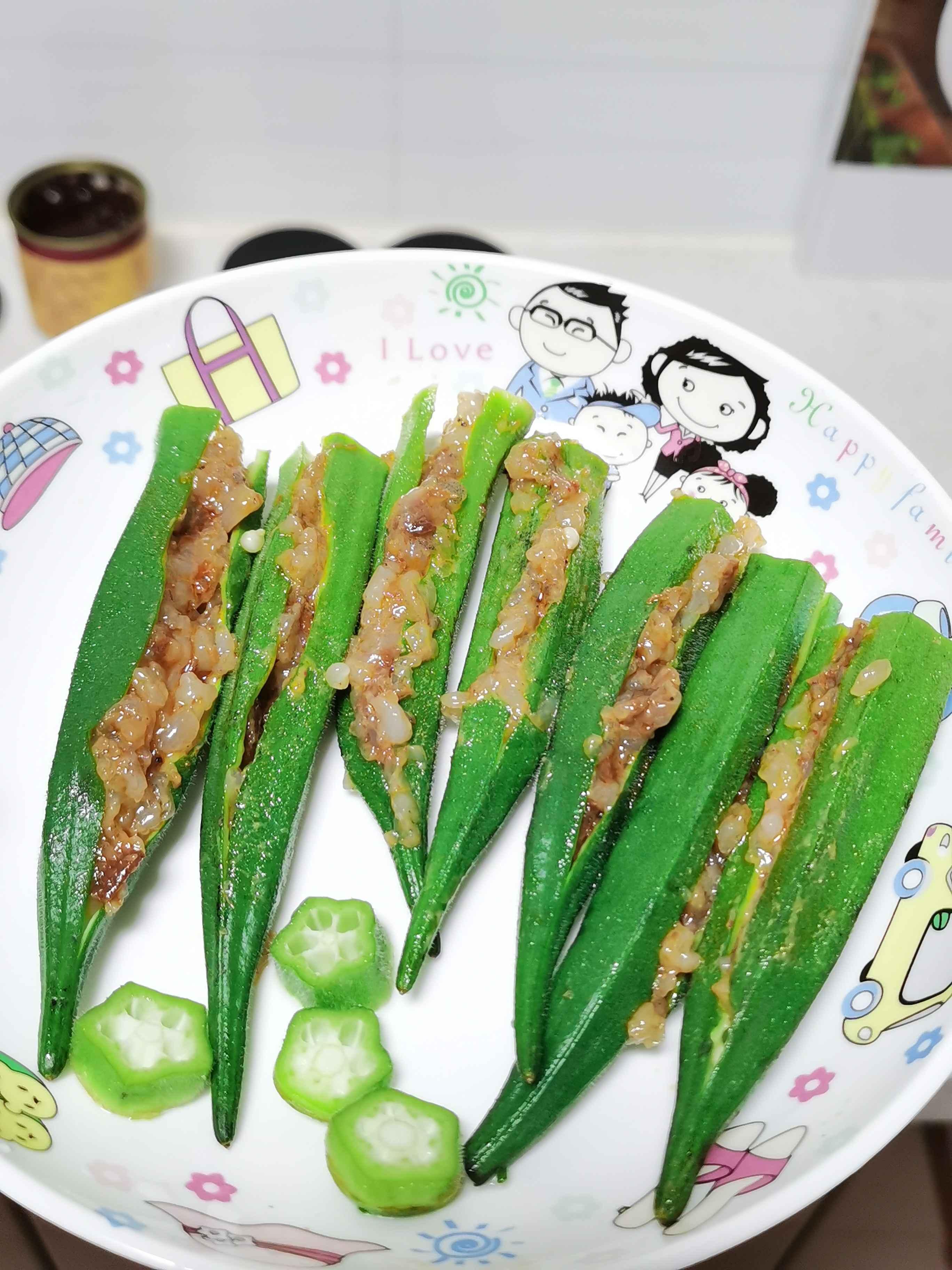 虾蓉酱秋葵的简单做法