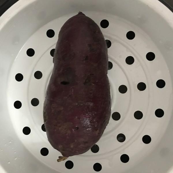 芝士爆浆紫薯球+丘比沙拉汁的步骤