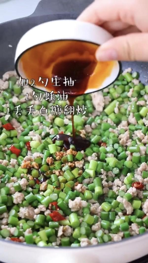 蒜苔炒肉末的简单做法