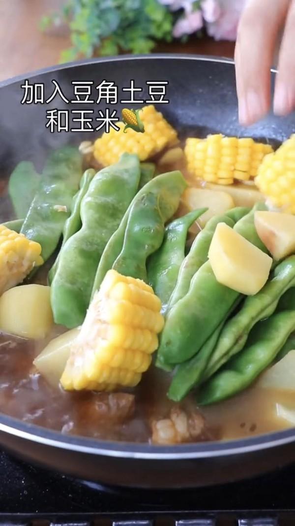 排骨玉米炖豆角怎么做