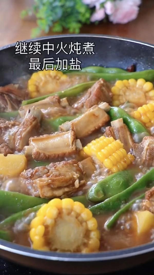 排骨玉米炖豆角怎么炒