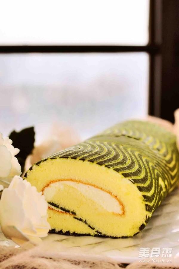 波浪抹茶蛋糕卷的制作