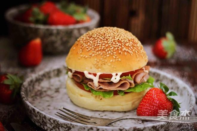 培根汉堡成品图