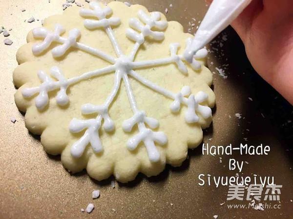 圣诞糖霜雪花曲奇的制作