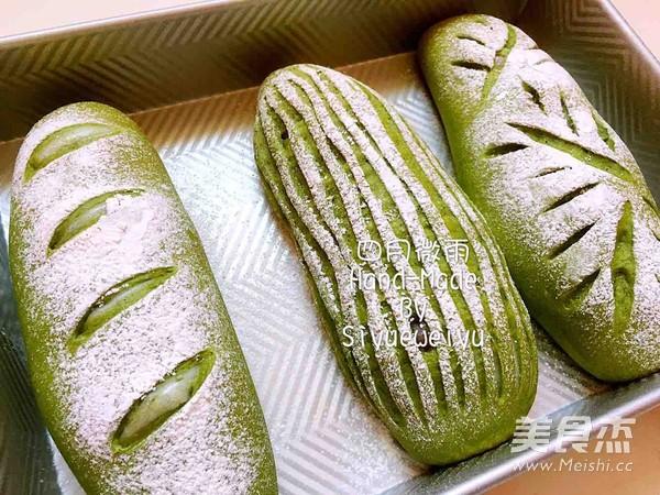 抹茶麻薯软欧包的制作方法