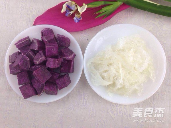 紫薯炖燕窝的做法图解
