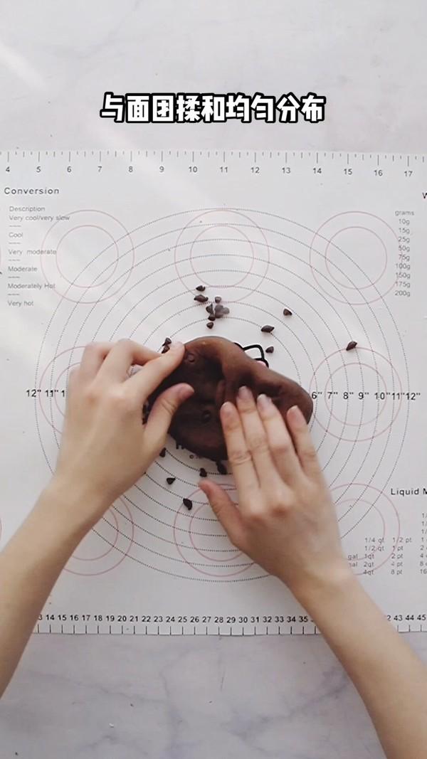 爆浆巧克力可可麻薯包的简单做法
