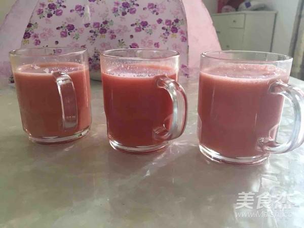 鲜榨西瓜汁(豆浆机版纯果汁)成品图