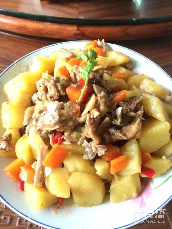土豆萝卜炖鸭肉怎样炒